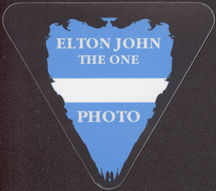 #MUSIC720 - Triangular Elton John OTTO Cloth Backstage Pass from the 1992 The One Tour