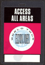 #MUSIC437 - 1989 Elton John Laminated Backstage Pass from the World Tour