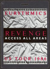 #MUSIC371  - 1986 Eurythmics Laminated Backstage Pass from the Revenge Tour