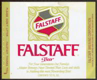 #ZLBE058 - Falstaff Beer Label