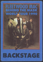 #MUSIC754 - Fleetwood Mac OTTO Cloth Backstage Pass from the 1990 Behind the Mask Tour