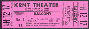 #MUSIC343 - 1970 Flock/Crow Ticket from the KRNT Theater