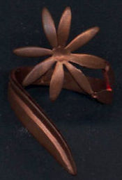 #BEADS0703 - Good Quality Solid Copper Hippie Flower Power Ring