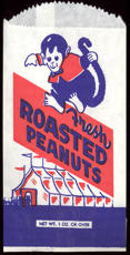 #PC085 - Fresh Roasted Peanut Bag Picturing a Monkey and Circus Tent