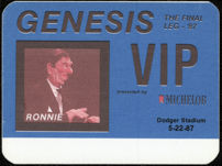 #MUSIC759 - Genesis OTTO Cloth Backstage Pass from the 1987 Invisible Touch Tour Featuring Ronald Reagan