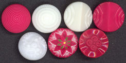 #BEADS0167 - Czechoslovakian Glass Buttons - Pick your Color and Style