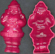 #BEADS0099 - Half of an Old Hard Plastic Santa - Useful for Crafts