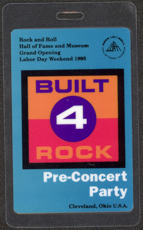 #MUSIC406  - Blue 1995 Rock Hall of Fame Opening Backstage Pass - Pre Concert Party