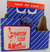 #SOZ089 - Harmony Club Beverages Cardboard 6 Bottle Carrier - Dancing Girl