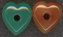 #BEADS0135 - Sew on Glass Heart with Hole in Center - Pick Your Color