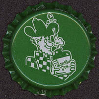 #BC103 - Group of 10 Mountain Dew Plastic Lined Soda Caps - Hillbilly Pictured