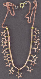 #BEADS0228 - Copper and Brass Plated Beaded Hippie Choker