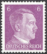 #CH262 - WWII Era Adolph Hitler Stamp from Nazi Germany