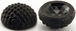 #BEADS0187 - Black Hobnail Patterned Cabochon