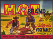 #ZLC278 - Hot Brand California Vegetables Label