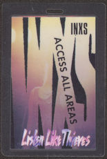 #MUSIC404  - 1985 INXS Laminated Backstage Pass from the Listen Like Thieves World Tour