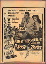 #CH326-24  - Johnny Weissmuller as Jungle Jim in The Lost Tribe Movie Poster/Broadside