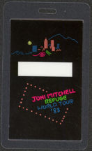 #MUSIC488 - 1983 Joni Mitchell Laminated Backstage Pass from the Refuge World Tour