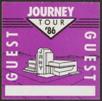 #MUSIC761 - Journey OTTO Cloth Backstage Pass from the 1986 Raised on Radio Tour