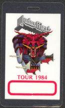 #MUSIC421  - 1984 Judas Priest Laminated Backstage Pass from the Defenders of the Faith Tour