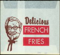 #CH138  - KFC French Fry Bag - Old One