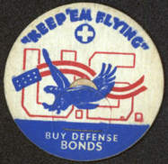 #DC122 - Keep 'Em Flying WWII Milk Bottle Cap