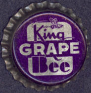 #BC106 - King Bee Grape Cork Lined Soda Cap