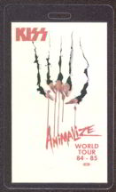 #MUSIC267  - 1984-85 Kiss Laminated Backstage Pass from the Animalize Tour