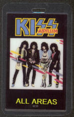 #MUSIC386  - 1985 KIss Laminated Backstage Pass from the Asylum Tour