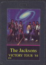#MUSIC397  - Laminated The Jacksons 1984 Victory Tour Backstage Pass