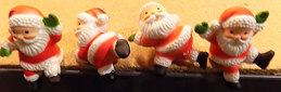 #HH154 - Group of 4 Different Santa Claus Ledge Sitters