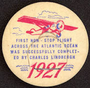 #DC135 - Uncommon Commemorative 1927 Lindbergh Flight Milk Bottle Cap
