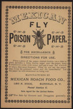 #ZZZ090 - Turn of the Century Mexican Fly Poison Paper Directions Sheet