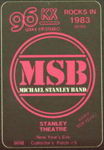 #MUSIC281  - Michael Stanley Band 1983 Tour OTTO Backstage Pass - Radio Promo 96 KX