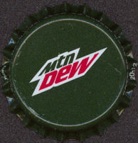 #BC102 - Group of 10 Deep Green Mountain Dew Plastic Lined Soda Caps