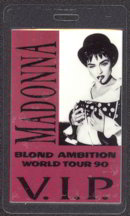 #MUSIC277  - 1990 Madonna Laminated Backstage Pass from the Blond Ambition Tour