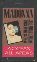 #MUSIC469 - 1987 Madonna Laminated Backstage Pass from The Who's That Girl Tour - All Access