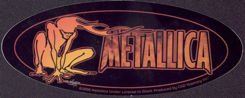 #MUSIC1037 - 2000 Metallica Sticker with Crouching Fire Demon