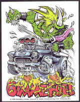 #MUSIC1039 - 1998 Metallica Gimme Fuel Sticker