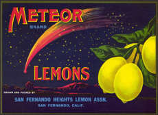 #ZLC281 - Meteor Brand Lemon Label