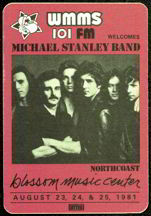 #MUSIC279  - Michael Stanley Band 1981 Tour OTTO Backstage Pass - Radio Promo 101 FM