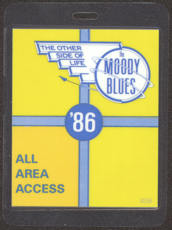 #MUSIC398  - Laminated Moody Blues 1986 The Other Sida of Life Tour