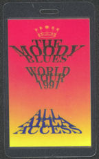 #MUSIC408  - 1991 Moody Blues Laminated Backstage Pass from the World Tour