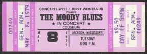#MUSIC336 - 1979 Moody Blues Day of Show Ticket from Jackson Mississippi