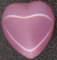 #BEADS0129 - Czech Pink Moonstone Heart Cabochon