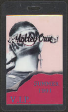 #MUSIC400  - 1991 Motley Crue Laminated Backstage Pass from the Decade of Decadence Summer Tour