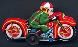 #TY664 - Tin Lithographed Japanese Motorcycle