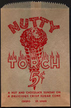 #PC101 - Nutty Torch 5¢ Ice Cream Bag
