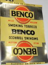 #ZLT022 - Benco Smoking Tobacco Pack Label
