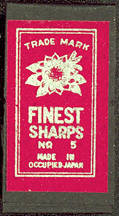 #CS236 - Pack of Occupied Japan Sharps Needles